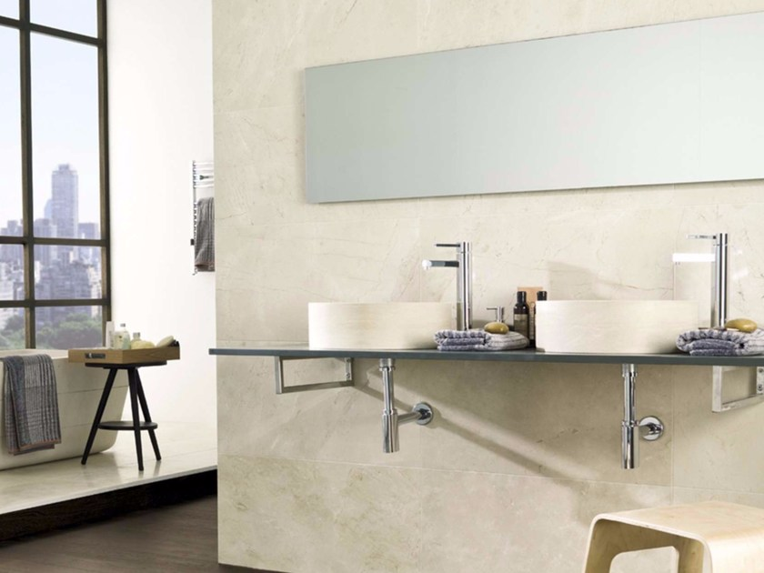 Countertop round natural stone washbasin NAVONA by L'antic Colonial