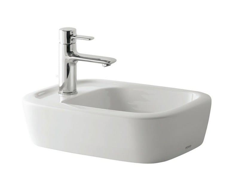 Countertop rectangular ceramic handrinse basin NC | Rectangular handrinse basin - TOTO