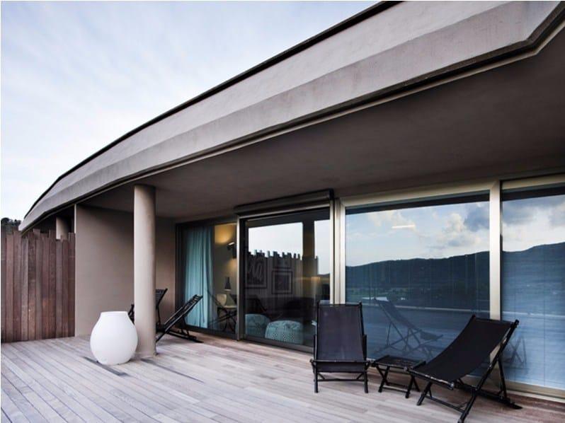 Porta finestra con doppio vetro in alluminio nc s 150 sth hes metra - Porta finestra doppio vetro ...