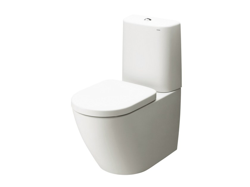 Ceramic cover, round, with plastic cistern NC - TOTO