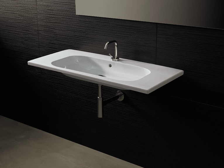 Rectangular ceramic washbasin NEAT CONSOLLE 105 - Alice Ceramica