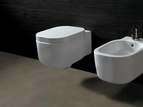 Wall-hung ceramic toilet NEAT | Wall-hung toilet by Alice Ceramica