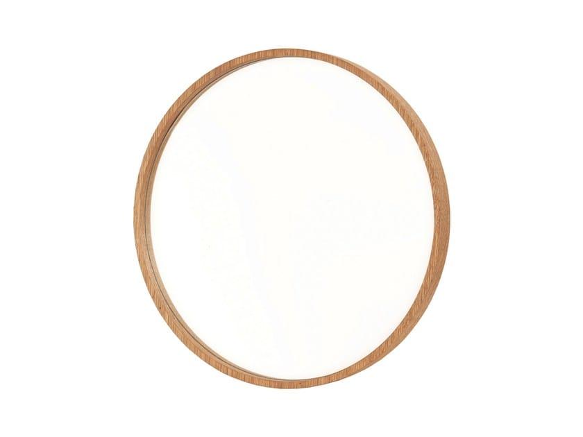 Round wall-mounted framed mirror NENÚFAR - Branco sobre Branco