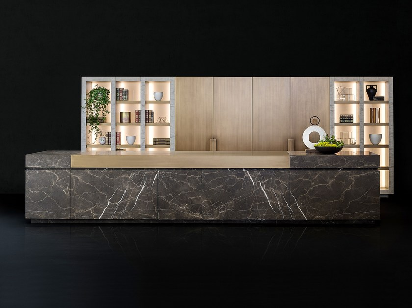 Natural stone kitchen with island NEOLITE - TM Italia Cucine