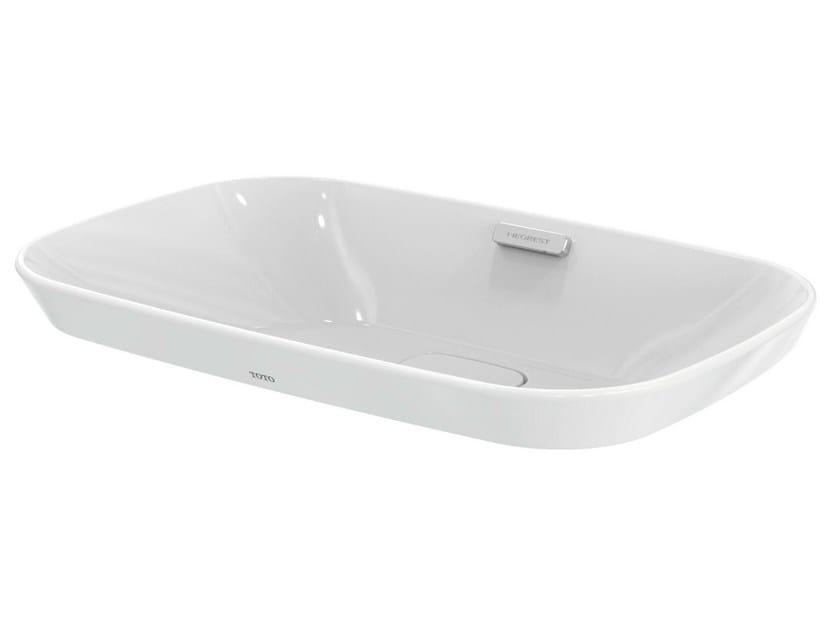vasque encastrer rectangulaire neorest lavabo en c ramique collection neorest by toto. Black Bedroom Furniture Sets. Home Design Ideas