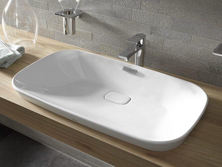 Lavabo da incasso soprapiano rettangolare neorest lavabo da incasso soprapiano toto - Lavabo bagno da incasso ...