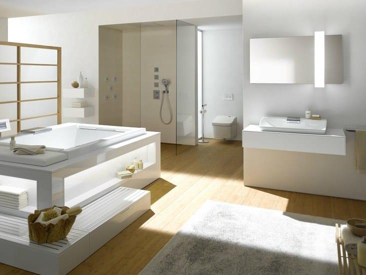 Specchio a parete con contenitore con illuminazione - Specchio contenitore per bagno ...