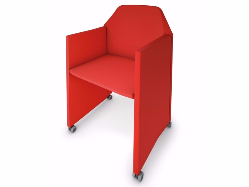 Folding easy chair with armrests with casters NESTAR   Folding easy chair by Luxy