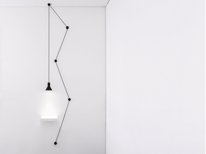 LED metal pendant lamp NEURO - DAVIDE GROPPI