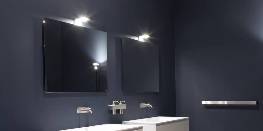 Specchio a parete con illuminazione integrata per bagno neutro neutro led antonio lupi design - Illuminazione bagno led ...