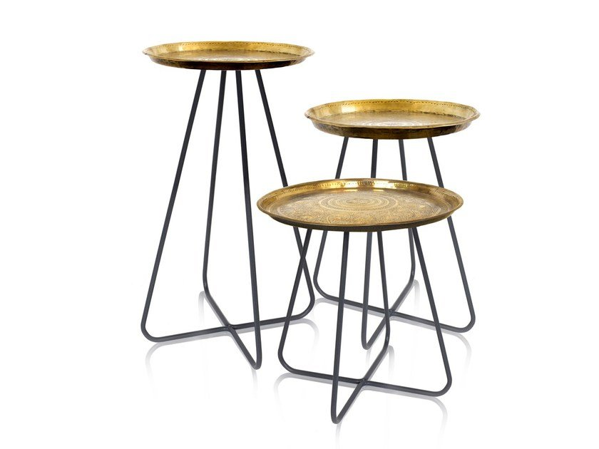 Round metal side table NEW CASABLANCA | Round coffee table - Mineheart