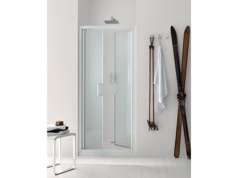 Niche glass shower cabin with hinged door NEW CLAIRE - 5 - INDA®