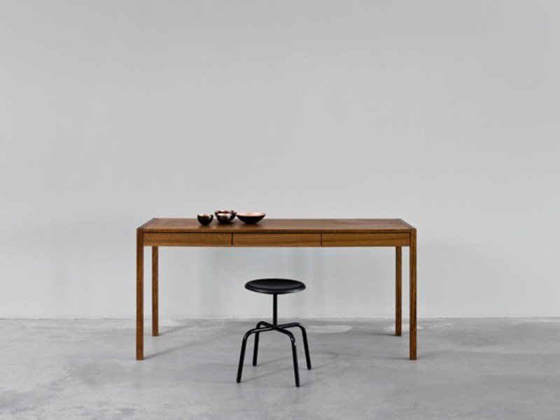 Rectangular writing desk with drawers NEW DESK - MORGEN Interiors
