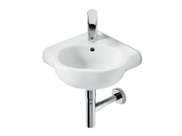 Wall-mounted ceramic handrinse basin NEW MERIDIAN | Ceramic handrinse basin - ROCA SANITARIO
