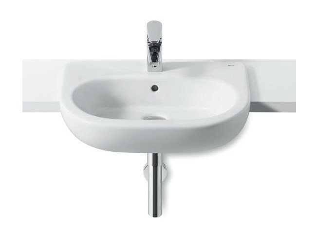 Semi-inset washbasin NEW MERIDIAN | Semi-inset washbasin - ROCA SANITARIO
