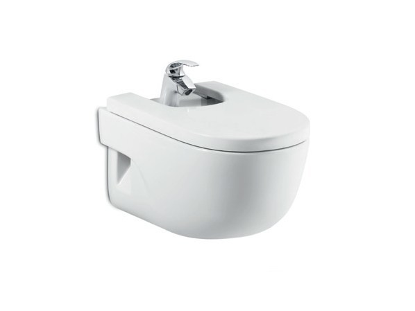Wall-hung ceramic bidet NEW MERIDIAN | Wall-hung bidet by ROCA SANITARIO