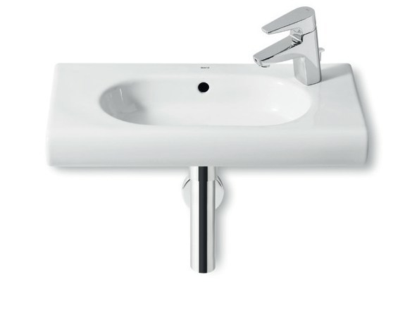 Single wall-mounted washbasin with overflow NEW MERIDIAN | Washbasin with overflow - ROCA SANITARIO