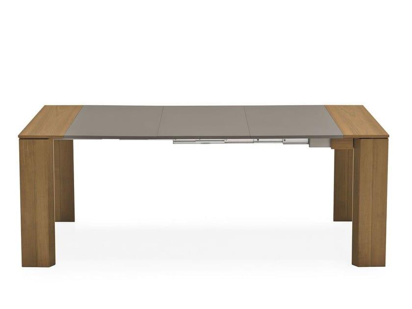 Extending rectangular wooden table NEW MISTERY - Calligaris