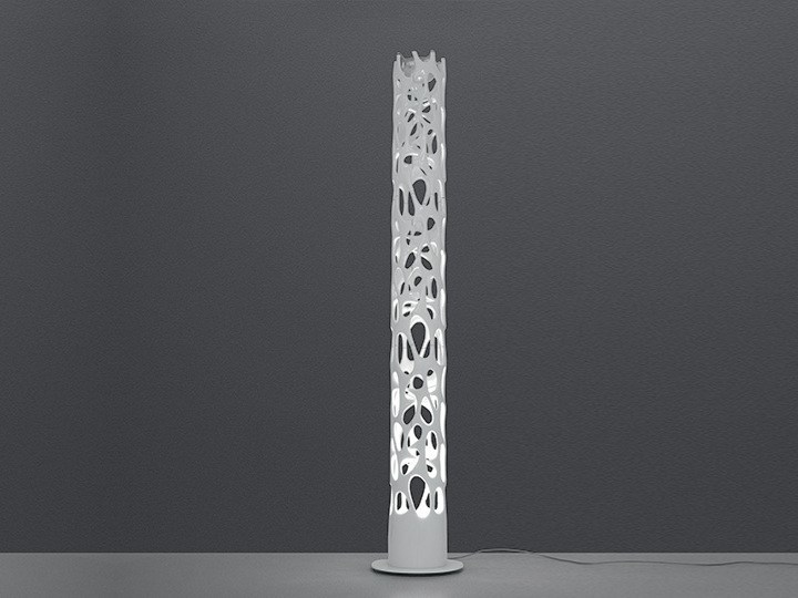 LED chrome plated steel floor lamp NEW NATURE - Artemide