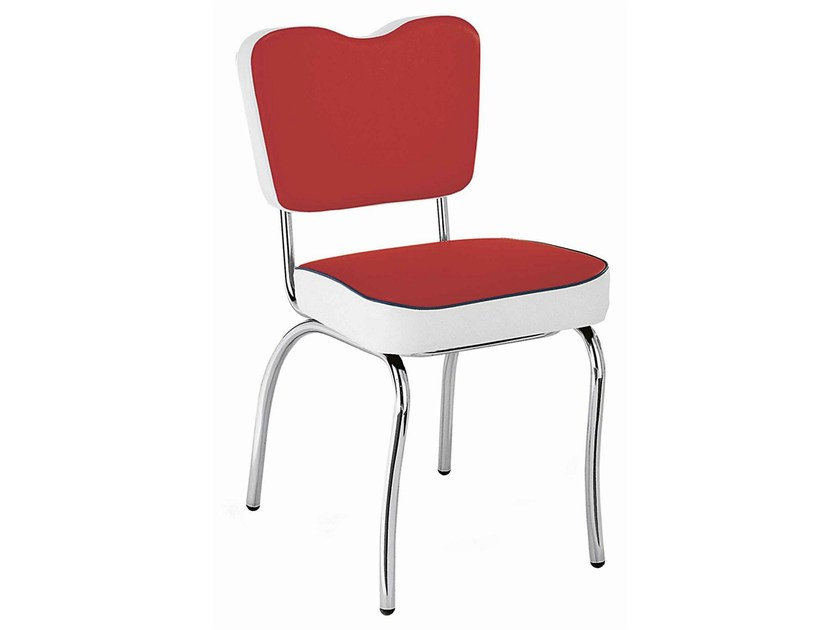 Upholstered restaurant chair New Orleans 108 - Metalmobil