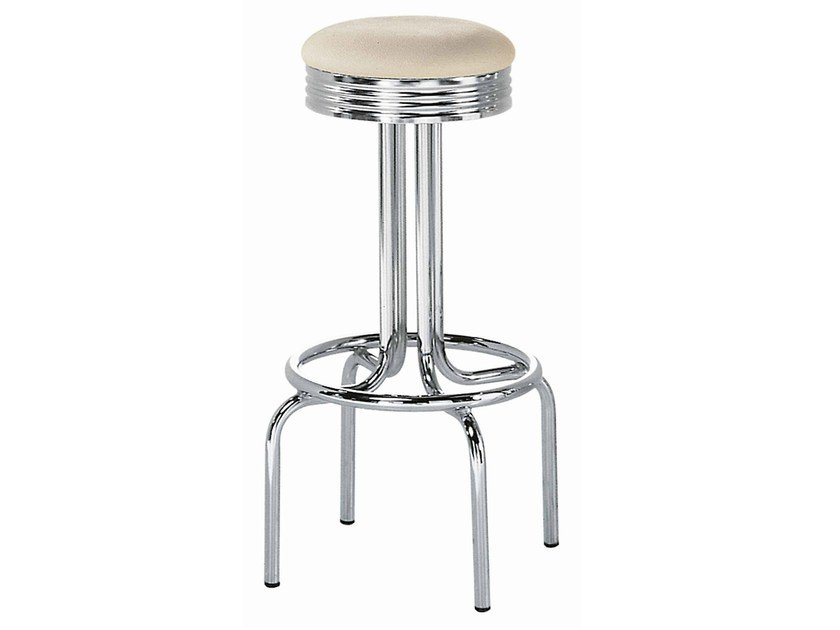 Steel stool with footrest New Orleans 350 - Metalmobil