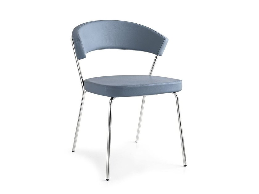 Upholstered leather chair NEW YORK | Chair - Calligaris