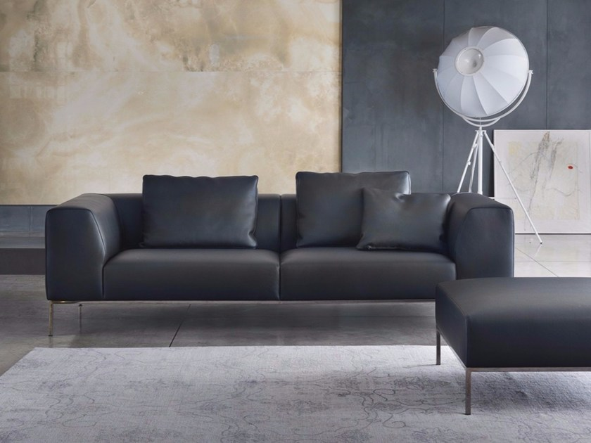 3 seater leather sofa NEW YORK | Leather sofa by Marelli