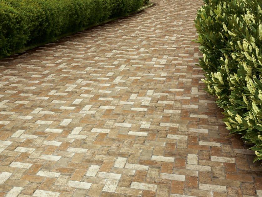 Pavimento per esterni in gres porcellanato effetto pietra for Carrelage exterieur 10x20