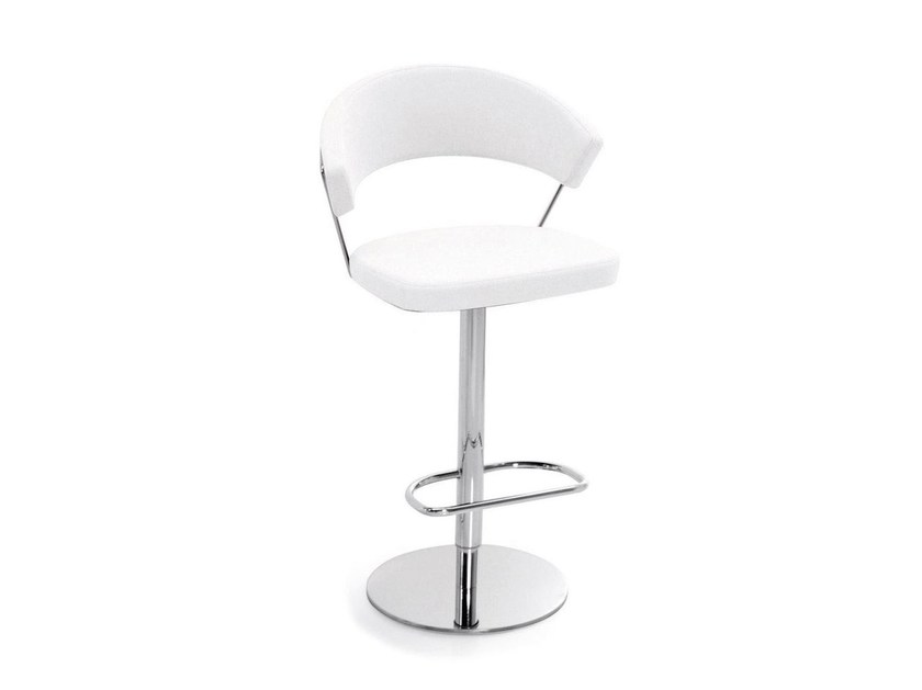 Swivel counter stool with footrest NEW YORK | Trestle-based chair - Calligaris