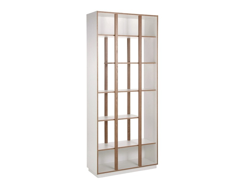 Open lacquered wooden bookcase NEWBURY | Bookcase - Woodman