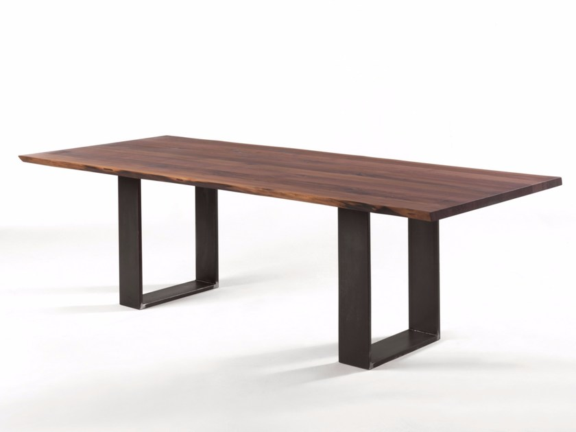 Rectangular solid wood table NEWTON NATURAL SIDES - Riva 1920