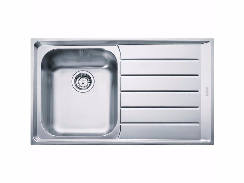 Lavello a una vasca da incasso in acciaio inox con sgocciolatoio NEX 211 by FRANKE