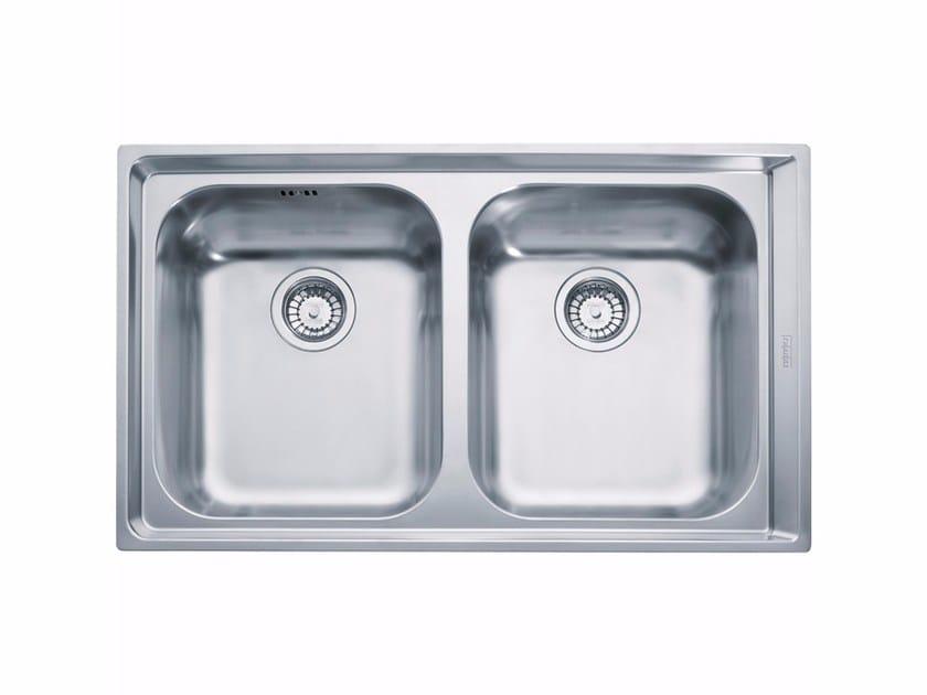 Lavello a 2 vasche da incasso filo top in acciaio inox NEX 220 - FRANKE