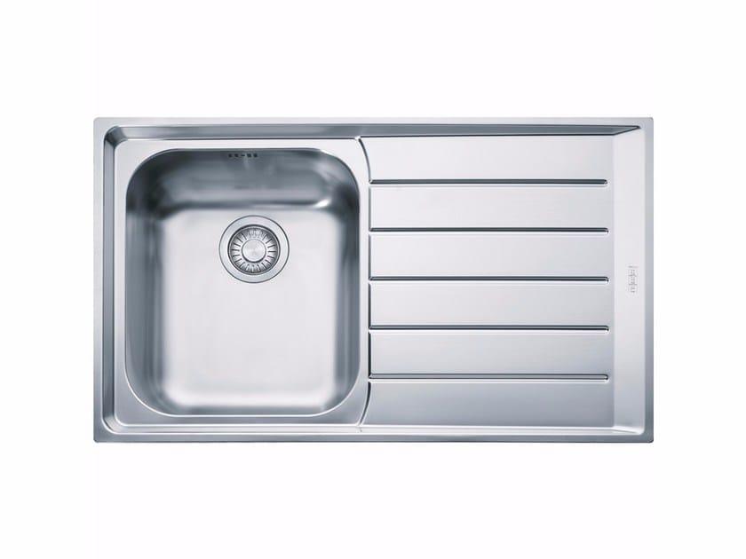 Lavello a una vasca da incasso in acciaio inox con sgocciolatoio NEX 611 - FRANKE