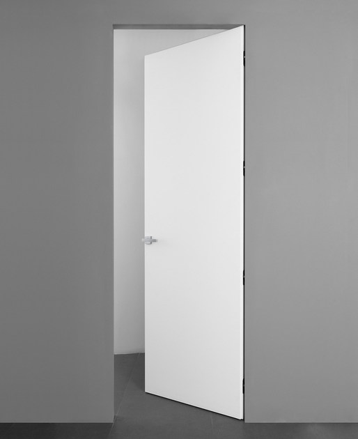 Flush-fitting wooden door NEXT by ALBED by Delmonte