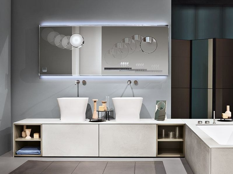 Sectional vanity unit with doors NEXT by MAKRO