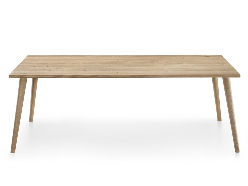 Contemporary style rectangular wooden dining table NEXT TABLE MAXI by Infiniti