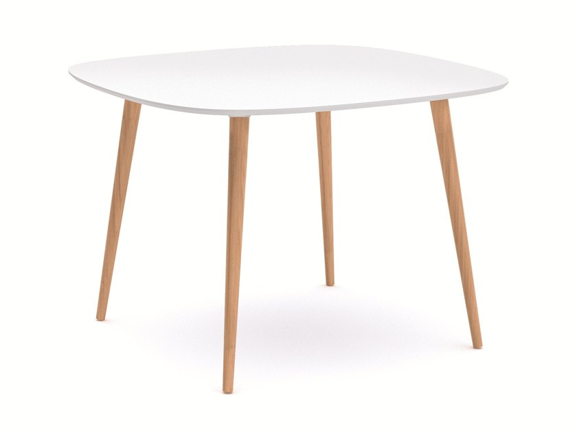 Laminate dining table NEXT TABLE ROUND by Infiniti