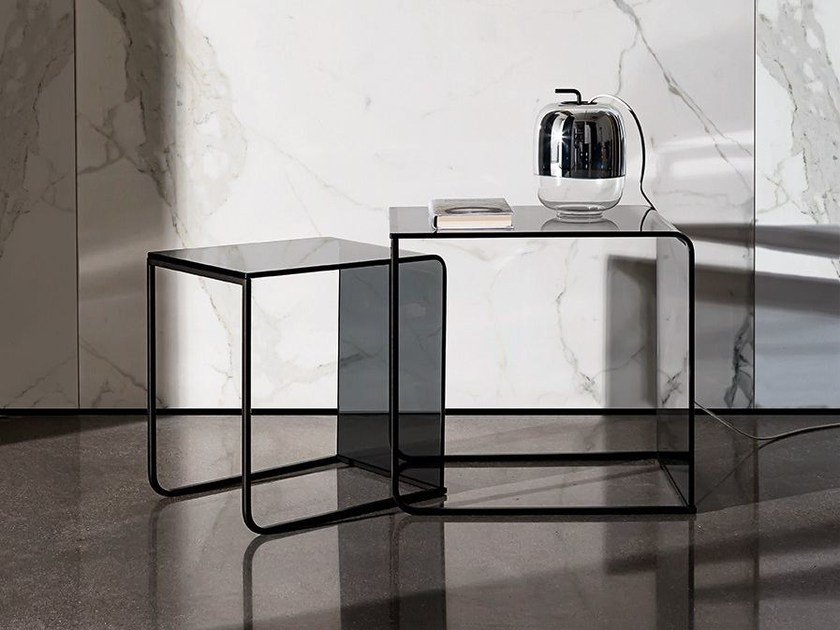 Stackable glass coffee table NIDO | Coffee table - SOVET ITALIA