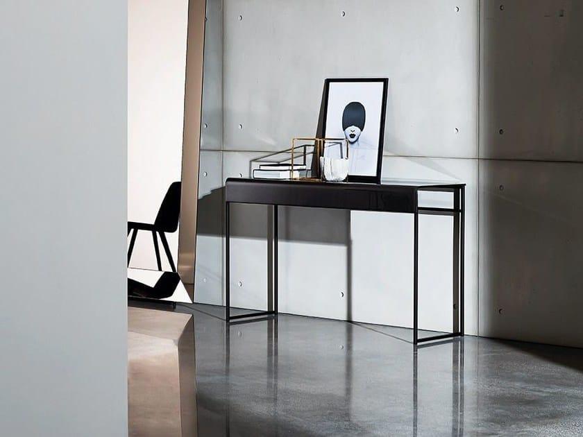 Rectangular glass console table NIDO | Console table - SOVET ITALIA