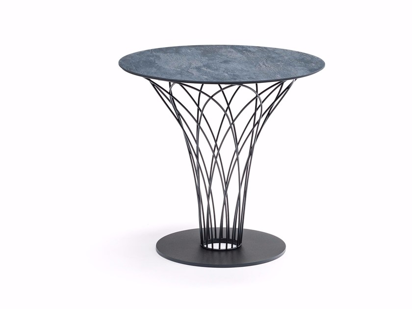 Round ceramic table NIDO KERAMIK BISTROT by Cattelan Italia