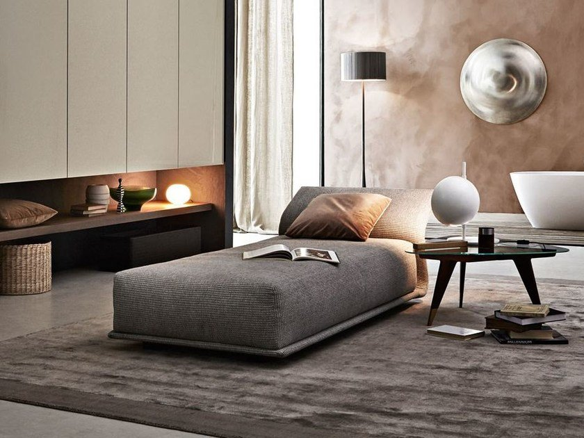 Upholstered fabric day bed NIGHT&DAY | Day bed by Molteni