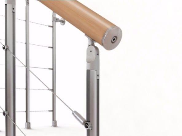 Aluminium balustrade NIK by Fontanot Spa