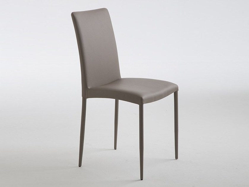 Leather restaurant chair NINA by RIFLESSI