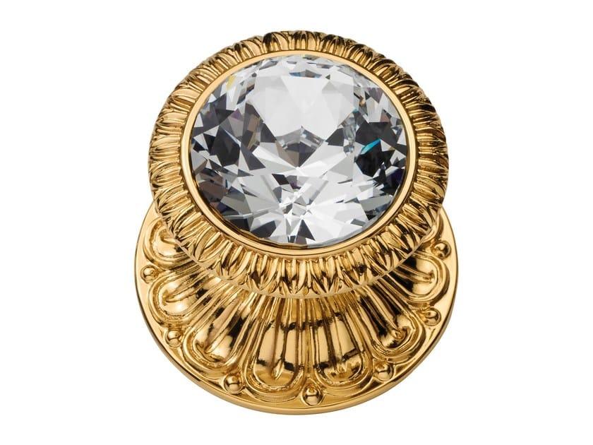 Classic style brass door knob with Swarovski® Crystals NINFA CRYSTAL | Door knob with Swarovski® Crystals - LINEA CALI'