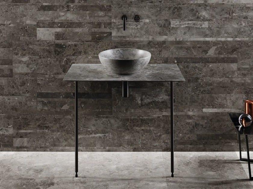 Countertop round marble washbasin NINFA by SALVATORI