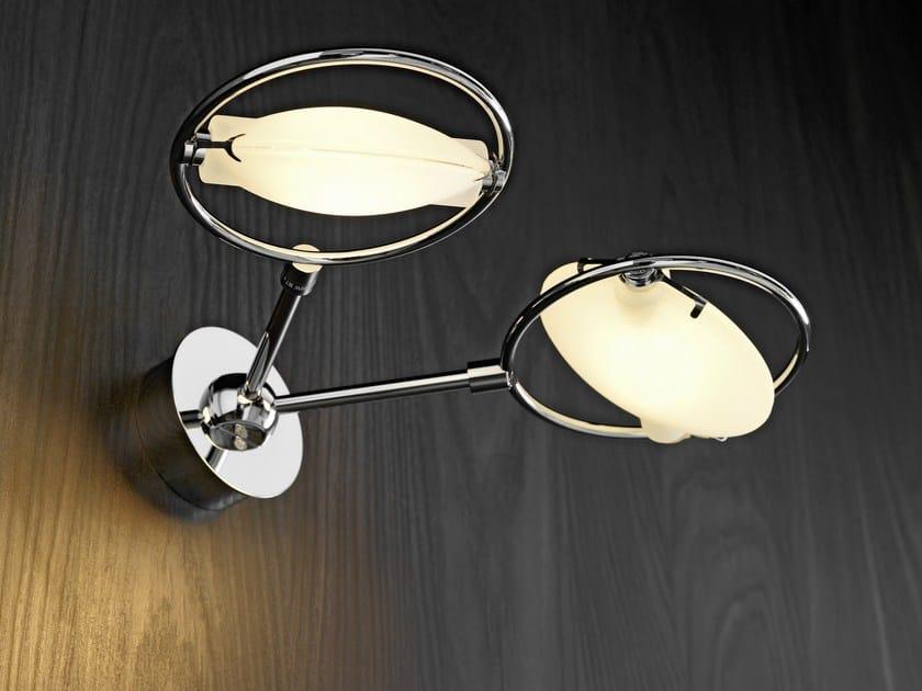Satin glass wall light NOBI 2 - FontanaArte