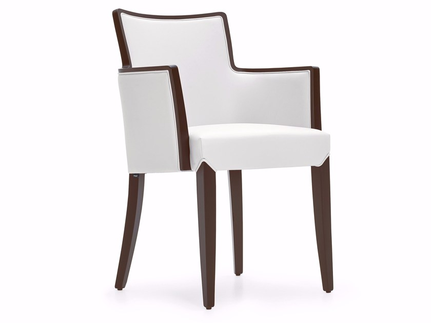 Upholstered fabric chair with armrests NOBILIS | Upholstered chair by Varaschin