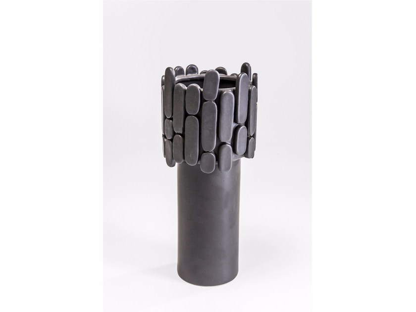 Vase NOBLE BRICK BLACK - KARE-DESIGN