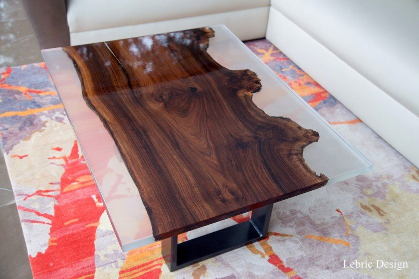 Resin table NOCE | Living room table by ANTICO TRENTINO